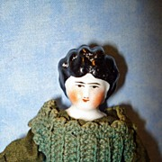 China 1880 Doll House Doll with a unusual face