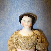 1860 China Flat top doll house doll