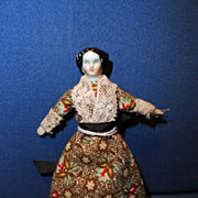 1860 Tiny China Doll House Doll