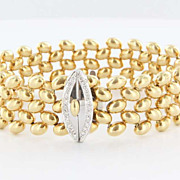 Vintage 18 Karat Yellow Gold Diamond Bracelet Fine Estate Jewelry Pre-Owned Used