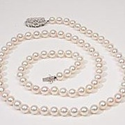 Vintage Estate Diamond Pearl 14k Gold Necklace Strand Fine Old Heirloom Used Pre Owned Jewelry