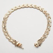 Vintage Estate Leaves 14k Gold Eternity Bracelet Fine Old Heirloom Used Pre Owned Jewelry