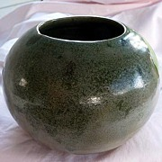 A. R. Cole Vintage Sanford, North Carolina Green Hand Thrown American Southern Folk Art Potter