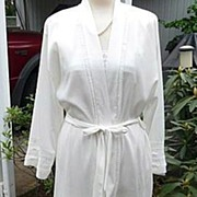 Christian Dior Elegant Designer Vintage 1980's White Gown & Robe~Peignoir Set Large