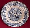 Royal Staffordshire Clarice Cliff Rare Blue Rural Scenes Transferware Soup Bowls