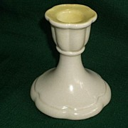 Cowan Pottery Ohio Yellow Candle Stick Holder