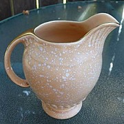 "Crown Devon Staffordshire England Vintage Art Deco Apricot~Peach Footed 5"" Jug Pitcher"