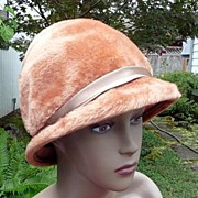 Jennifer Originals by Empress Western Germany Vintage 1960's Rust Colored Flapper~Bucket Hat 2