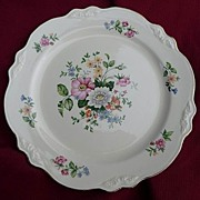 "Homer Laughlin Virginia Rose Vintage Marsh Bouquet 9 1/2"" Dinner Plates 1950 & 1951"