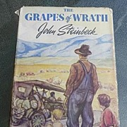 SALE John Steinbeck Vintage 1st Edition~4th Printing 1939 Classic Grapes of Wrath Viking Press