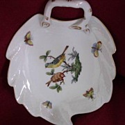 "SALE Herend Hungary Rothschild 6"" Leaf Dish Hand Painted"
