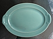 "California Lu Ray Pastels Taylor Smith & Taylor Mint Green 12"" Platter"