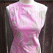 Lilly Pulitzer Vintage 1960's The Lilly Cotton Pink & Green Butterflies & Flowers Dress 10/12