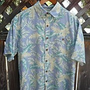 Men's Vintage Island Republic Silk Tropical Hawaiian Camp Shirt Size Med