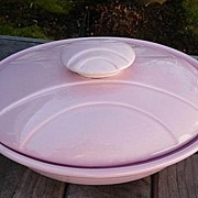 Miramar Pottery California USA Vintage 1958 Pink Mod 1 Quart Oblong Casserole~Vegetable Bowl,