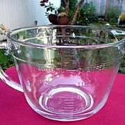 Anchor Hocking Large Glass Vintage 1980's Measuring & Batter Bowl 8 Cups
