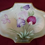 Richard Ginori Italy Stunning Hand Painted Serving Plate Tray 1842 - 1860