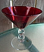 Elegant Imperial Glass Ruby Red Champagne ~ Sherbet Stem