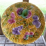 "SOLD Utzchneider & Co. Sarreguemines France Large Majolica 12"" Plate~Platter Ca 1900"