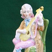 "Unger, Schneider & Co. 4"" Figurine Musician Thuringia Germany"