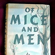 John Steinbeck Vintage 1937 Rare Novel Of Mice And Men 1st Edition~2nd Printing Covici Friede