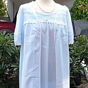 SALE St. Michael England Vintage 1970's~1980's Baby Blue Long Peignoir Set~Gown & Robe Size Sm