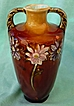"Lovely Majolica 5 1/2"" Two Handled Germany Austria Art Nouveau Amphora Vase"