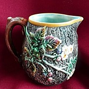 Wedgwood Majolica 1865~1890 Blackberry Bramble Pitcher~Jug 4""
