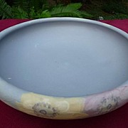 "Weller Art Pottery Vintage 1920s Hudson 3 Footed Hand Painted Floral 9 1/2"" Console Bowl"