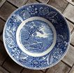 "Wood & Sons Burslem Staffordshire England Vintage Ironstone Transferware Woodland 9"" Round Serving Bowl"
