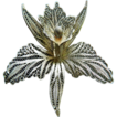 Silver orchid-Pin