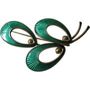 Denmark- Sterling- guilloche enameled-Pin