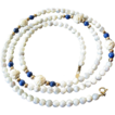 Mop-Lapis-ivory- 14k. Gold filled Necklace
