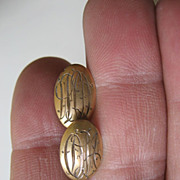 Gold filled Victorian Cuff links