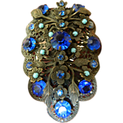 Jeweled 1910-1920- Gorgeous fur/dress Clip