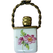 Limoges- Porcelain basket with Perfume bottle- Vintage-France