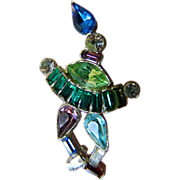 1930's-1940's- Jewelled figural -Pin
