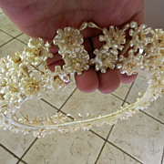 Gorgeous wax flower- Wedding tiara