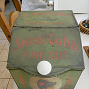 Antique- tin advertising bin-Store display-Cigars