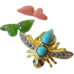 Lovely bug pin- signed- Interchangeable colors