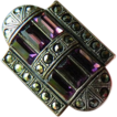 Sterling- marcasites and Purple baguette stones-Ring