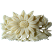 Beautiful- hand carved bone- Floral pin