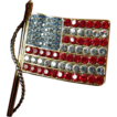 Signed- KJL-Jeweled Flag-pin