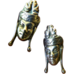 Sterling silver- Asian face-1930-1940's hand made Earrings