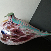 Beautiful hand blown and signed-Glass morning Dove figure