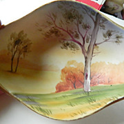 Vintage-Hand painted- beautiful signed Nippon bowl