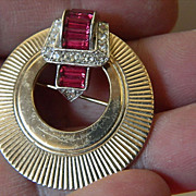 signed-Boucher- jeweled Pin