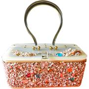 Magnificent-1950's Midas of Miami- lucite and Shells purse