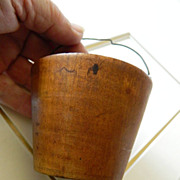 Early Americana- hand turned wood- Pease-wear- treen-wear- Mini Bucket
