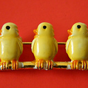 "Darling ""Yellow chicks"" pin"